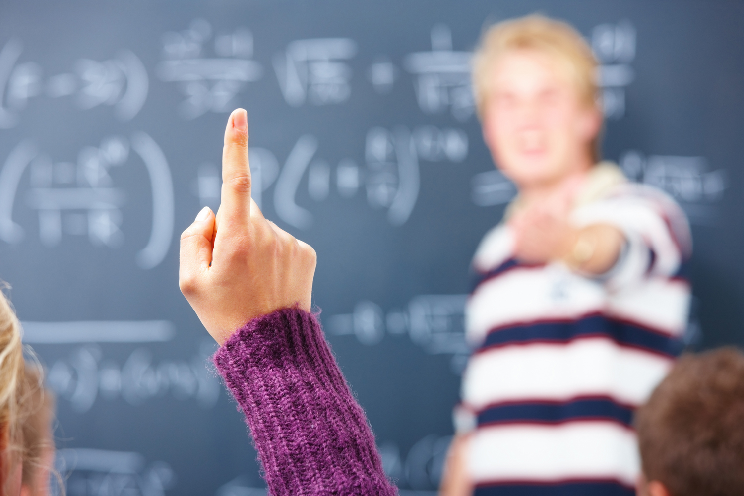 Education - I know the answer , Womans finger